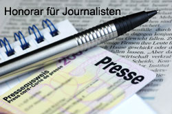 Honorar für Journalisten